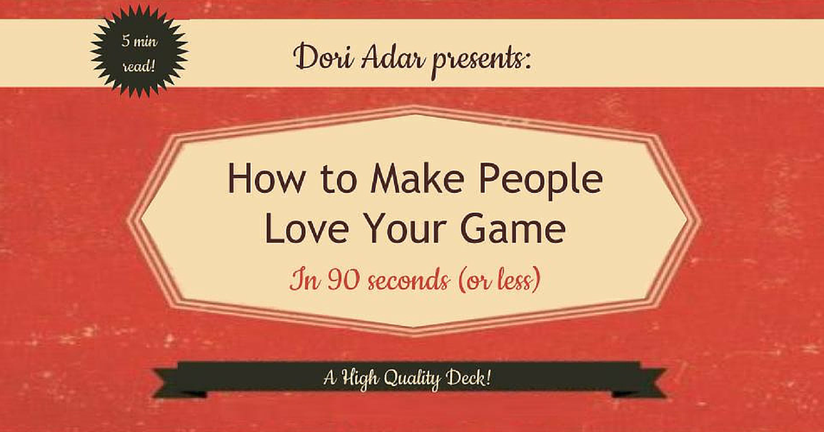 How to Make People Love Your Game