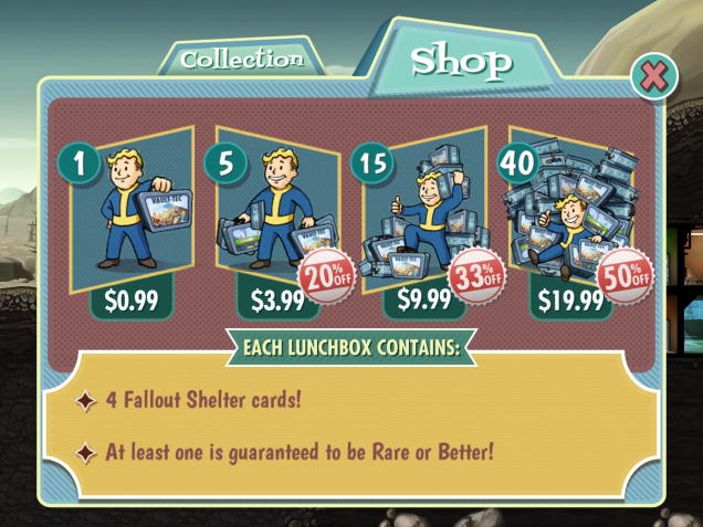 Scarcity on Fallout Shelter