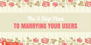 The 3 Step Plan To Marrying Your Users